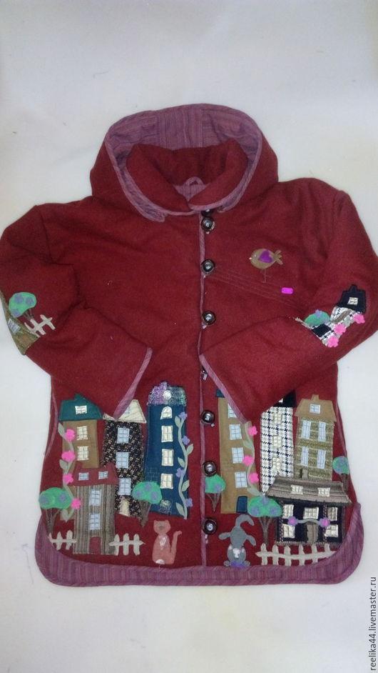 """Верхняя одежда ручной работы. Ярмарка Мастеров - ручная работа. Купить Куртка из шерсти """" Котофеи и города 2.2"""". Handmade."""