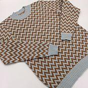 Одежда ручной работы. Ярмарка Мастеров - ручная работа Джемпер 100% кашемир Loro Piana с узором. Handmade.
