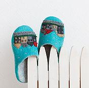 """Обувь ручной работы. Ярмарка Мастеров - ручная работа Тапочки """"Cказки Андерсена"""". Handmade."""