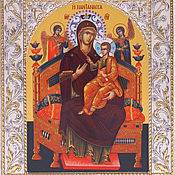 Русский стиль handmade. Livemaster - original item All-Tsaritsa icon of the mother Of God (14h18cm). Handmade.