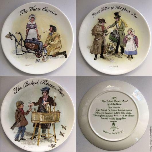 Винтажная посуда. Ярмарка Мастеров - ручная работа. Купить Великолепные винтажные тарелки Wedgwood, рисунок Джон Финни.. Handmade. Wedgwood