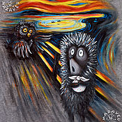 """Мужская одежда handmade. Livemaster - original item T-shirt """"The hedgehog scream"""". Handmade."""
