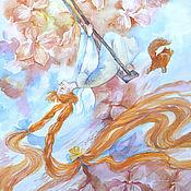 """Картины и панно ручной работы. Ярмарка Мастеров - ручная работа Акварель """"Втюрилась!"""". Handmade."""