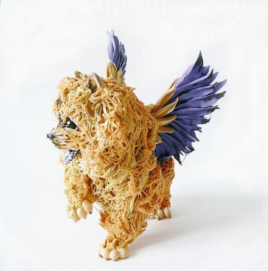 """Игрушки животные, ручной работы. Ярмарка Мастеров - ручная работа. Купить фигурка """"Чау-чау: мечта о крыльях"""" (из пластика). Handmade."""
