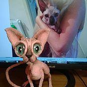 Мягкие игрушки ручной работы. Ярмарка Мастеров - ручная работа Сфинкс - лысый кот розового окраса. Handmade.