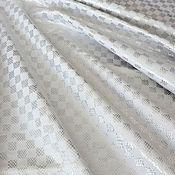 Материалы для творчества handmade. Livemaster - original item Genuine leather cattle-White-silver chess 1 mm. Handmade.