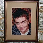 Картины и панно ручной работы. Ярмарка Мастеров - ручная работа вышивка портретов на заказ. Handmade.