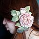 """Заколки ручной работы. Заказать Цветы из шелка. """"Чайная роза"""". Шелковые цветы. Свадебные украшения.. VESSSNA WEDDING. Ярмарка Мастеров."""