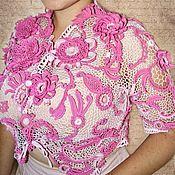 """Одежда ручной работы. Ярмарка Мастеров - ручная работа Жакет """"Розовый вечер"""". Handmade."""