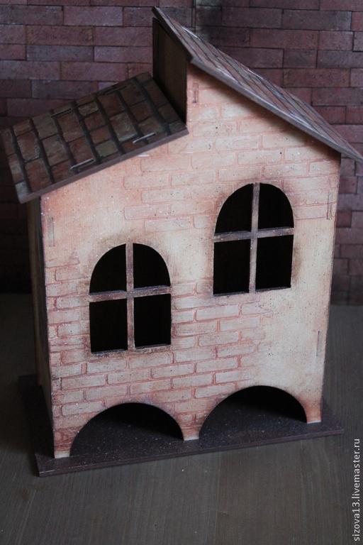 """Кухня ручной работы. Ярмарка Мастеров - ручная работа. Купить Двойной чайный домик """"Амстердам"""". Handmade. Коричневый, подарок девушке"""
