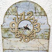 """Для дома и интерьера ручной работы. Ярмарка Мастеров - ручная работа """"Следы времени"""" большие часы. Handmade."""