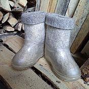 Обувь ручной работы. Ярмарка Мастеров - ручная работа Детские валеночки с калошами. Handmade.