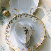 Винтаж handmade. Livemaster - original item Vintage snow-white porcelain tea trio H. WINTERLING Germany. Handmade.