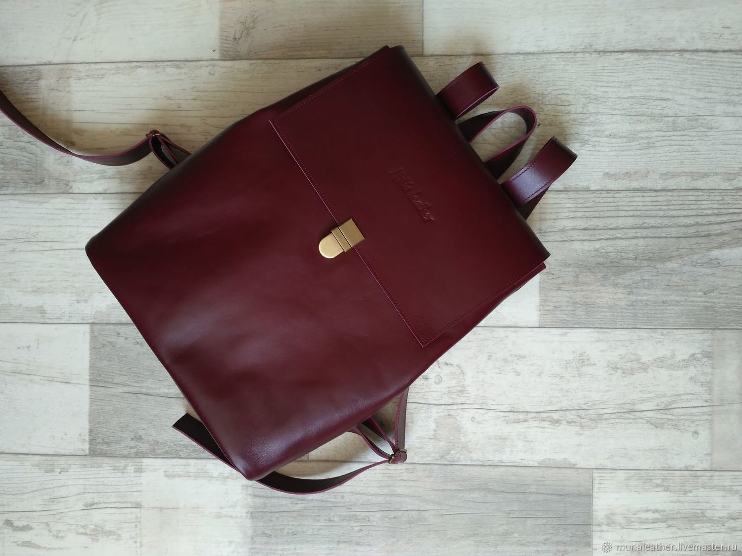 Backpack leather Marsala. A4, Backpacks, Moscow,  Фото №1