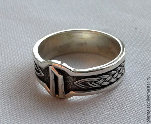 Кольцо с Руной Уруз с чернением 4-6 грамм -1100руб. Под заказ 5дн.;