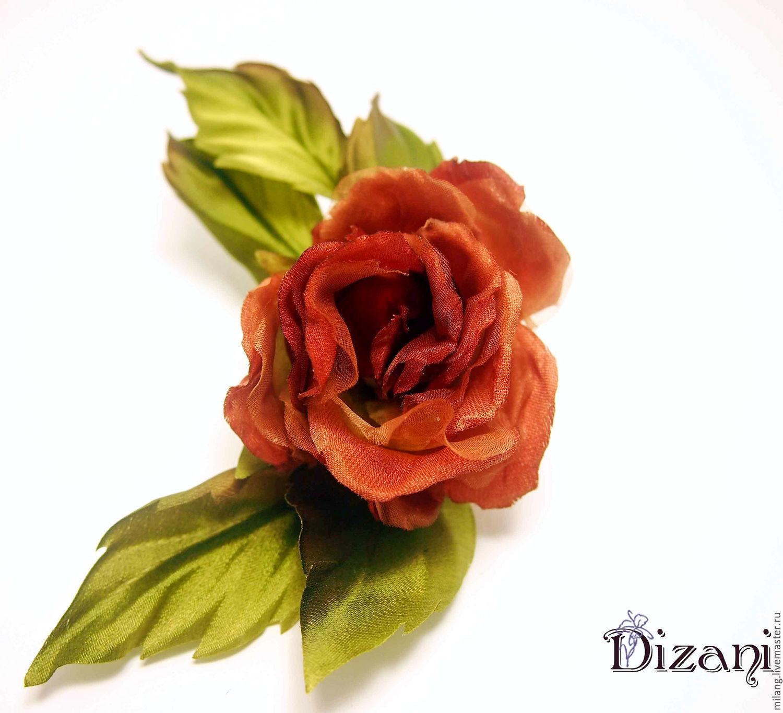 Brooch barrette rose romance silk flowers fabric flowers shop silk flowers fabric flowers flowers handmade livemaster handmade buy brooch barrette rose romance mightylinksfo