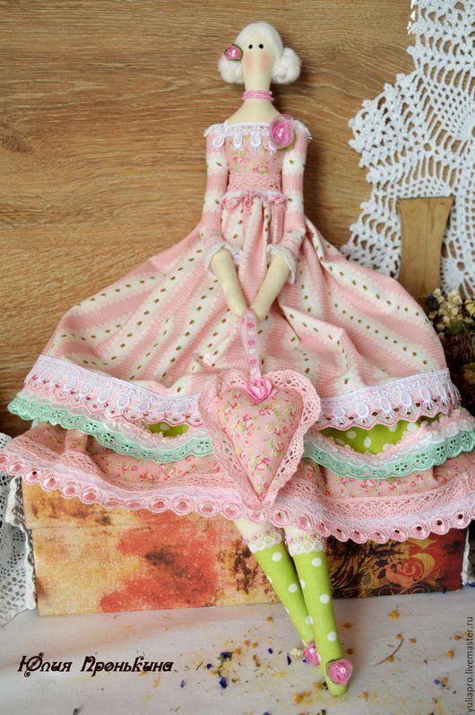 Куклы Тильды ручной работы. Ярмарка Мастеров - ручная работа. Купить Тильда барышня весенняя - интерьерная текстильная кукла. Handmade.