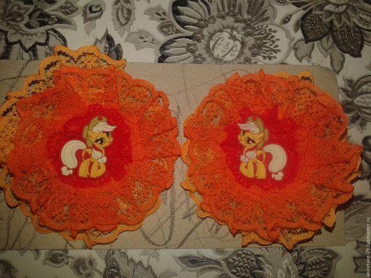Детская бижутерия ручной работы. Ярмарка Мастеров - ручная работа. Купить Кружевной бантик. Handmade. Комбинированный, бантик, кружево, пони