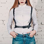 Аксессуары handmade. Livemaster - original item Womens leather belt
