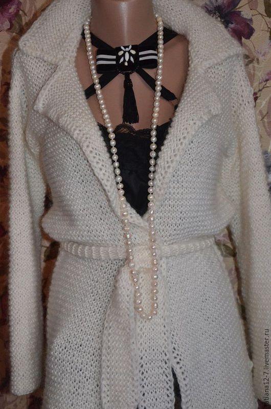 """Пиджаки, жакеты ручной работы. Ярмарка Мастеров - ручная работа. Купить """" Bella"""" кардиган ручной работы. Handmade. Белый"""