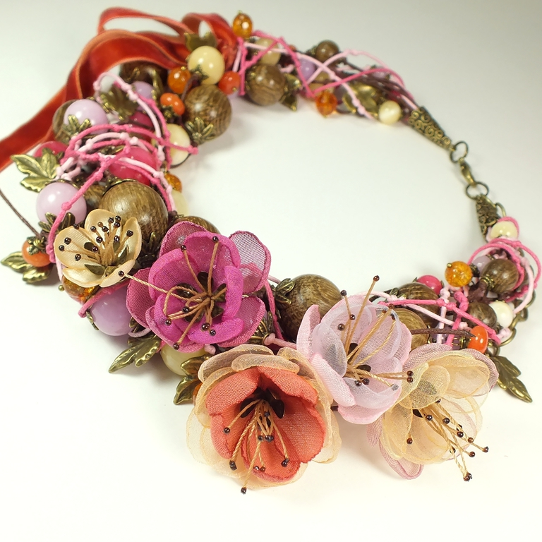Dawn Rose. choker, removable floral decor, Necklace, St. Petersburg,  Фото №1