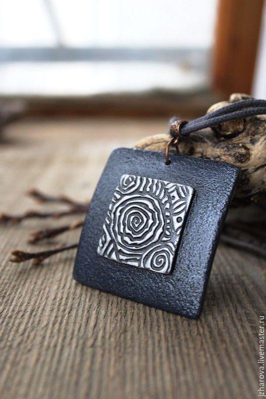 Кулоны, подвески ручной работы. Ярмарка Мастеров - ручная работа. Купить Кулон из полимерной глины Туманы Авалона. Handmade.