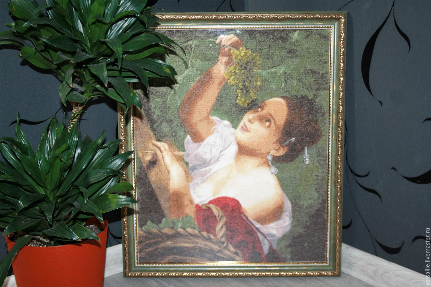 Reproduction, embroidered pattern,the big picture, a copy, a masterpiece of world painting, copy painting