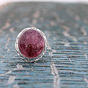 Украшения ручной работы. Ярмарка Мастеров - ручная работа Кольцо с розовым турмалином в серебре. Handmade.