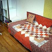 Для дома и интерьера ручной работы. Ярмарка Мастеров - ручная работа Покрывало пэчворк лоскутное 130 х 170 см с подушками. Handmade.