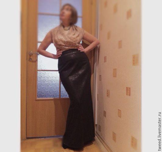 """Юбки ручной работы. Ярмарка Мастеров - ручная работа. Купить Длинная черная юбка """"Вы само совершенство!"""". Handmade."""