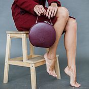 Сумки и аксессуары handmade. Livemaster - original item Women`s genuine leather bag MISS COCO Marsala. Handmade.