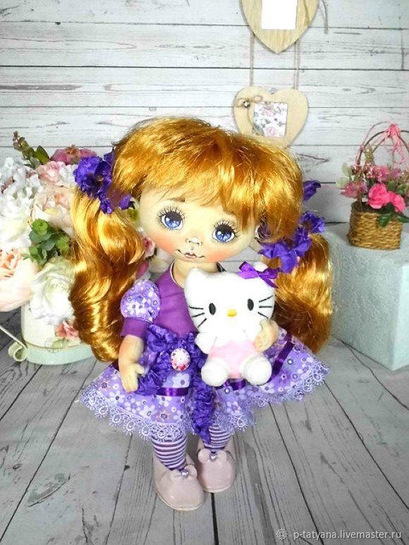 Текстильная кукла. Коллекционная игровая кукла Ксюша, Куклы и пупсы, Буй,  Фото №1