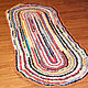 Текстиль, ковры ручной работы. Ярмарка Мастеров - ручная работа. Купить Большой овальный бабушкин коврик. Handmade. Коврик