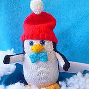 Куклы и игрушки ручной работы. Ярмарка Мастеров - ручная работа Пингвин. Вязаная игрушка. Handmade.
