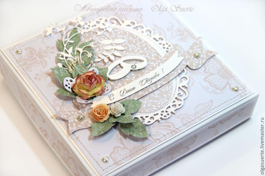 Болейте, свадебная открытка с кольцами своими руками