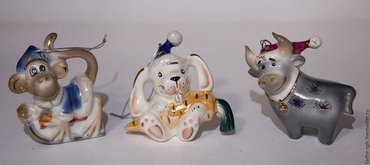 Персональные подарки ручной работы. Ярмарка Мастеров - ручная работа. Купить Елочные игрушки НАБОР ЗАДИАК 12 шт. Handmade.