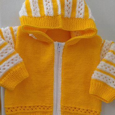 Товары для малышей ручной работы. Ярмарка Мастеров - ручная работа Комплекты одежды: жакет и шапочка. Handmade.