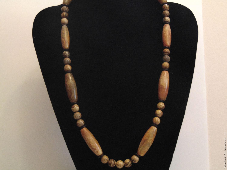 Beads from natural stones (Jasper, tree agate) 'Vintage', Necklace, Velikiy Novgorod,  Фото №1
