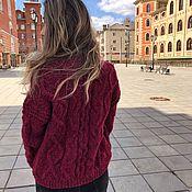 Одежда handmade. Livemaster - original item Ruby bomber jacket Alpaca. Handmade.