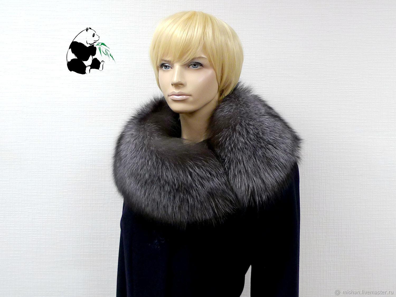 Fur detachable collar boa Fox fur. Art. TK-319, Collars, Ekaterinburg,  Фото №1