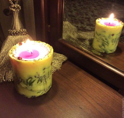 """Свечи ручной работы. Ярмарка Мастеров - ручная работа. Купить """"Рассвет в лесу"""" Эко - свеча из соевого воска. Handmade."""
