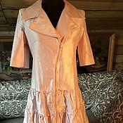 Одежда ручной работы. Ярмарка Мастеров - ручная работа %Платье-плащ из шелковой тафты. Handmade.