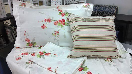 Текстиль, ковры ручной работы. Ярмарка Мастеров - ручная работа. Купить Комплект постельного белья. Handmade. Белый, сатиновое белье
