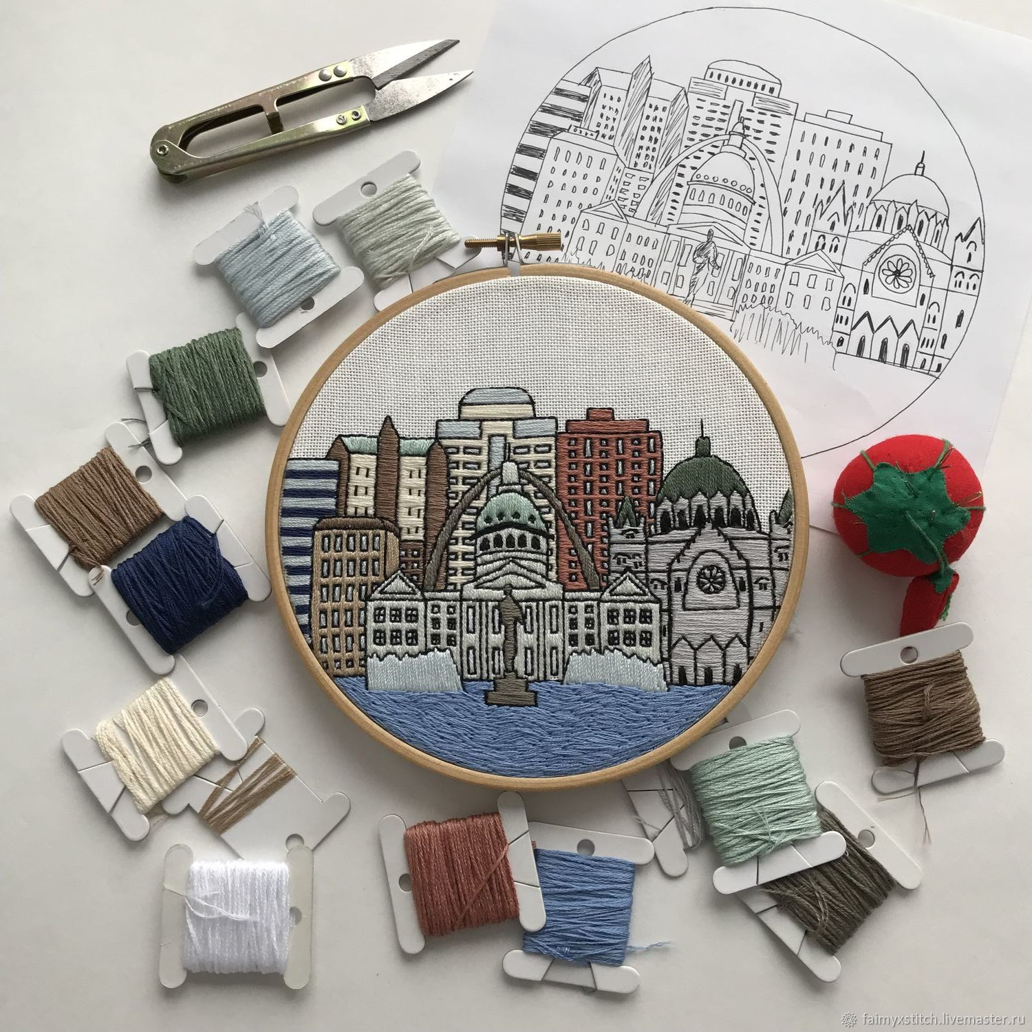 The Scheme For Embroidery Stitch St Louis Shop Online On