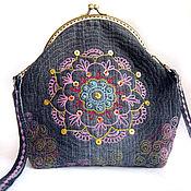 Сумки и аксессуары handmade. Livemaster - original item Women`s handbag on the clasp denim. Handmade.