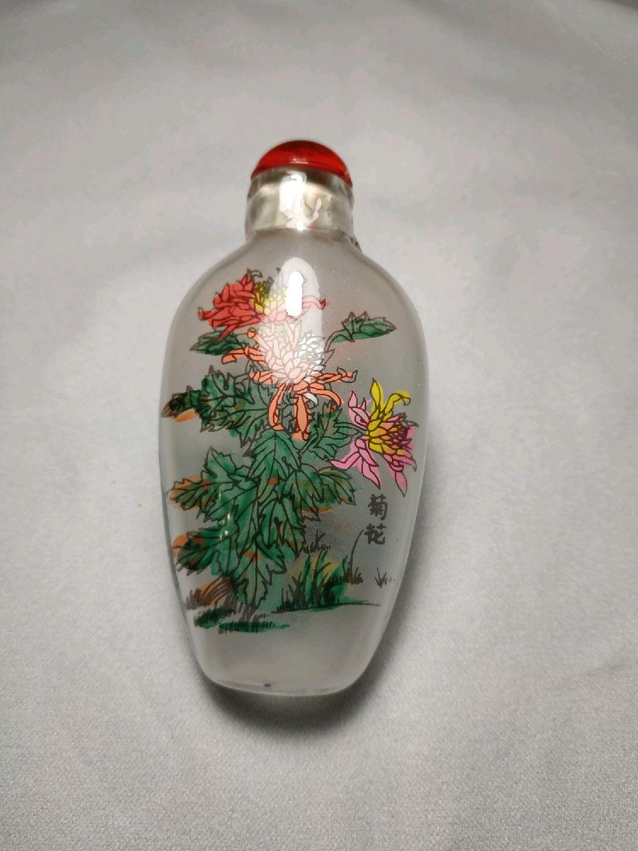 Стеклянный флакон с росписью 1, Бутылки, Муром,  Фото №1