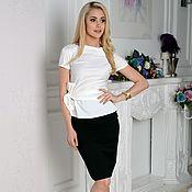 Одежда handmade. Livemaster - original item Blouse elegant, blouse white. Handmade.