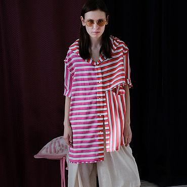 Одежда ручной работы. Ярмарка Мастеров - ручная работа Рубашка с капюшоном. Handmade.
