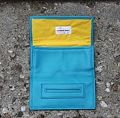 Сумки и аксессуары handmade. Livemaster - original item A pouch for tobacco leather Kombi Turquoise. Different colors. Handmade.