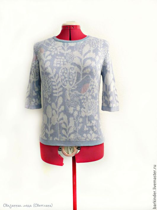 """Кофты и свитера ручной работы. Ярмарка Мастеров - ручная работа. Купить Вязаный  джемперок  """"Птички"""". Handmade. Разноцветный, женский джемпер"""